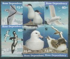 Ross-Gebiet 1997 Seevögel Der Antarktis Möwe Sturmvogel 46 + 49/53 Postfrisch - Ross-Nebengebiet (Neuseeland)