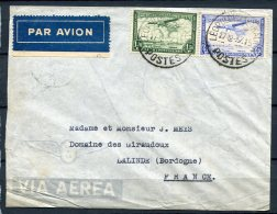 Belgian Congo 1937 - Air Mail Cover Leopoldville To Lalinde France - Belgian Congo