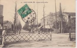 HAUTE MARNE - 35 - SAINT DIZIER - Avenue De Bar Le Duc  ( - Verso De La Carte Peu Courant Et Rare ) - Saint Dizier