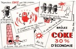 Buvard Brûlez Du Coke, 30% D'économie. - Buvards, Protège-cahiers Illustrés