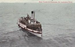 "CARTOLINA "" MAIL TENDER AT RIMOUSKI - ST. LAWRENCE RIVER "" CANADA 1909 - Cartoline"