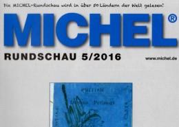 MICHEL Briefmarken Rundschau 5/2016 Neu 6€ New Stamps Of The World Catalogue/magacine Of Germany ISBN 978-3-95402-600-5 - Pin's
