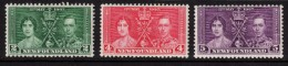 NEWFOUNDLAND 1937 Coronation Omnibus Set - Mint Hinged - MH * - 5B799 - 1908-1947