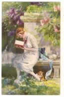 S4726 - Jeune Dame  - Publicité  Chocolaterie L' Aiglon - Pubblicitari