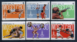Cuba 1979 / Moscow 1980 Olympics MNH Juegos Olimpicos Moscu Olympische Spiele / Df00 - Verano 1980: Moscu