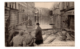75 - CPA PARIS 16è - RUE GROS - AUTEUIL - CRUE SEINE 1910 - EXCELLENT ETAT - - Arrondissement: 16