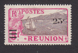 Reunion, Scott #116, Mint No Gum, View Of St Pierre Surcharged, Issued 1924 - Reunion Island (1852-1975)