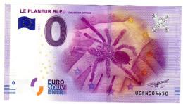 2016-1 BILLET TOURISTIQUE GUYANE 0 EURO SOUVENIR N° UEFN004650 ARAIGNEE LE PLANEUR BLEU CACAO  BT EPUISE - EURO