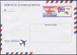 2001-EP-97 CUBA 2001. POSTAL STATIONERY. SOBRE CARTA SERVICIO INTERNACIONAL. - Storia Postale