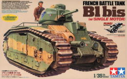 French Battle Tank B1 Bis (w/SINGLE MOTOR ) 1/35 ( Tamiya ) Motorized - Military Vehicles