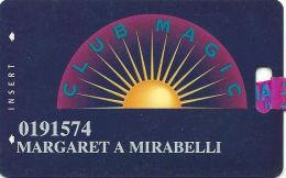 Las Vegas Hilton Casino - 6th Issue Slot Card - No Text Over Mag Stripe - Club Magic Ribbon - Casino Cards