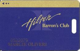 Las Vegas Hilton Casino - 9th Issue Slot Card - Script Hilton Logo On Back - Casino Cards
