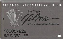 Las Vegas Hilton Casino - 13th Issue Grey Slot Card - Casino Cards
