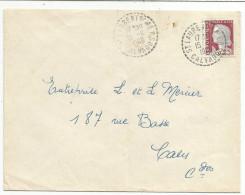OBLITERATION MANUELLE SUR LETTRE DE SAINT LAURENT SUR MER (CALVADOS) DU 15/11/1960 - 1961-....