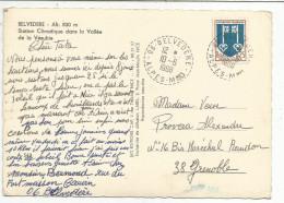 OBLITERATION SUR CARTE DE SAINTE MARIE LA MER (PYRENEES ORIENTALES) DU 19/6/1967 - 1961-....