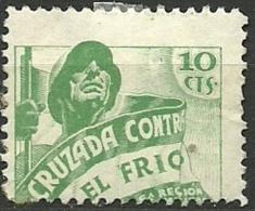 ESPAÑA GUERRA CIVIL  .BENEFICENCIA.CRUZADA CONTRA EL FRIO.1936.(Galvez 25*) - Emisiones Nacionalistas