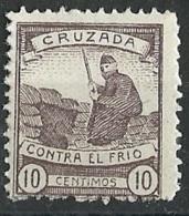ESPAÑA GUERRA CIVIL  .BENEFICENCIA.CRUZADA CONTRA EL FRIO.1936.(Galvez 1**) - Nationalistische Ausgaben