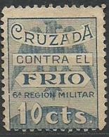 ESPAÑA GUERRA CIVIL  .BENEFICENCIA.CRUZADA CONTRA EL FRIO.1936.(Galvez 21 SIN GOMA) - Emisiones Nacionalistas