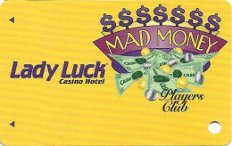 Lady Luck Casino Las Vegas, NV 10th Issue Slot Card - No Text Over Mag Stripe (BLANK) - Casino Cards