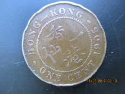 Hong Kong, 1 Cent 1905 (sans H) Edward VII, TB - Hong Kong