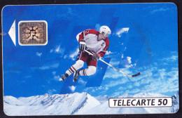 "Frankreich France - Telecarte 50 Mit Motiv ""Eishockey"" 10/91 - Gebraucht Used - France"