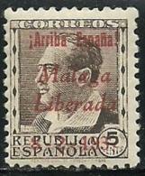ESPAÑA GUERRA CIVIL EMISIONES LOCALES PATRIOTICAS REPUBLICA MALAGA 9 ** MNH - Emisiones Nacionalistas