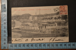 1904 COMO  LAVENO  Bellissima Rara Veduta Animata Del Porto.Viaggiata - Como