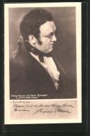 """AK Schauspieler Alfred Braun Als Franz Schubert In """"Dreimäderlhaus"""", Reklame Für Bubisan - Actors"""