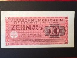 Deutsches Reich /  Rosenbg: 513 Gebraucht / 1944 / 10 Reichsmark Wehrmacht - [ 4] 1933-1945 : Third Reich