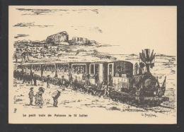 DF / 34 HERAULT / LE PETIT TRAIN DE PALAVAS LE 14 JUILLET / DESSIN DE G. JEANJEAN - France