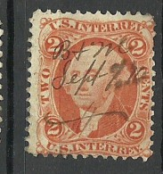 USA 1864 Stempelmarke Steuermarke Revenue Tax Stamp Präsident  2 C. O - 1847-99 Emissions Générales
