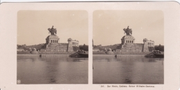 Stereo-Foto (photo Stéréo) 241  Der Rhein -Coblenz, Kaiser Wilhelm-Denkmal- - Stereoscopio