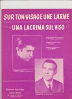 (GB10) Sur Ton Visage Une Larme , BOBBY SOLO , Paroles : MICHEL JOURDAN , Musique : LUNERO - Partitions Musicales Anciennes