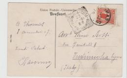 DK-W020 / DÄNEMARK - Facit No. 33 Auf Ansichtskarte Moravian Church Niska, Thomas N.J., 1907 Nach Italien - Dänemark (Antillen)