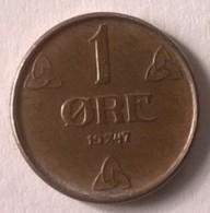 Monnaie - Norvège - 1 Ore 1947 - Superbe - - Norvège