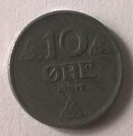 Monnaie - Norvège - 10 Ore 1942 - TTB - - Norvège