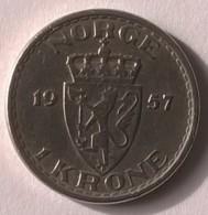 Monnaie - Norvège - 1 Krone 1957 - - Norvège