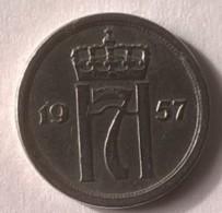 Monnaie - Norvège - 25 Ore 1957 - - Norvège