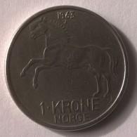 Monnaie - Norvège - 1 Krone 1963 - - Norvège