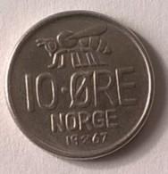 Monnaie - Norvège - 10 Ore 1967 - Superbe - - Norvège
