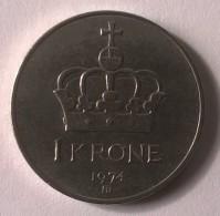 Monnaie - Norvège - 1 Krone 1974 - - Norvège