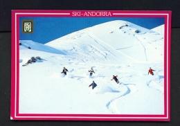 ANDORRA  -  Skiing  Used Postcard As Scans - Andorra