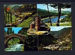 ANDORRA  -  Multi View  Used Postcard As Scans - Andorra