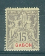 FRANCE - GABON - Yv. Nr 21 - MH* - Cote 10,00 € - Unused Stamps