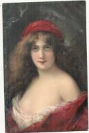 Illustrateur ASTI - Portrait De Femme  éd KF 1292 - TB(dos Traces) - Asti