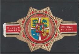 Sigarenringen. Hudson Sigaren Roosendaal Holland. Wapenringen - Danmark -. Serie B No. 12. Sigarenbandjes. 2 Scans - Bagues De Cigares