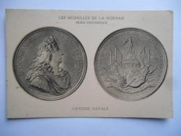 """CPA """"Les Médailles De La Monnaie - Série Historique - Victoire Navale"""" - Monnaies (représentations)"""