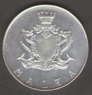 MALTA 1 LIRA MALTESE 1973 TEMI ZAMMIT AG SILVER - Malta