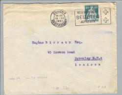 Schweiz Helvetia Mit Schert 1921 Perfin Brief D121 M.Birraux ZH Sehr Selten - Suisse