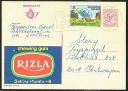 "CP Public. N° 2636  ""  Chewing Gum RIZLA "" - Circulé / Circulated - 1982. - Werbepostkarten"